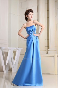 Beading Sleeveless Satin Floor-Length A-Line Prom/Formal Evening Dresses 02010006