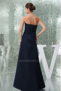Draped Sleeveless Floor-Length Sheath/Column Best Bridesmaid Dresses 02010022