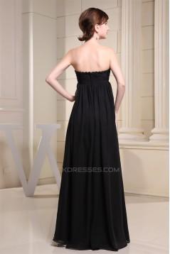 Empire Strapless Long Black Chiffon Maternity Bridesmaid Evening Dresses 02010034