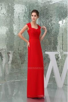 Floor-Length Criss Cross Sweetheart Sheath/Column Best Long Red Bridesmaid Dresses 02010041