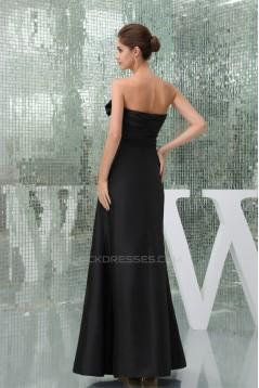Floor-Length Sleeveless Long Black Best Bridesmaid Dresses 02010044