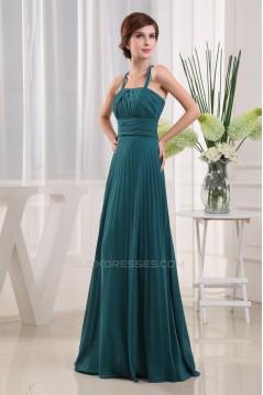 A-Line Spaghetti Strap Sleeveless Long Chiffon Bridesmaid Dresses 02010053