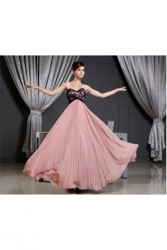 A-Line Sweetheart Chiffon and Beaded Lace Long Bridesmaid Dresses 02010054