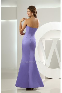 Trumpet/Mermaid Floor-Length Sleeveless Satin Long Bridesmaid Dresses 02010055