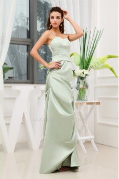 Satin Ruffles Sheath/Column Floor-Length Best Bridesmaid Dresses 02010084