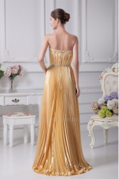 Sheath/Column Beading Strapless Floor-Length Long Bridesmaid Dresses 02010086