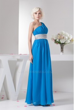Chiffon One-Shoulder Sheath/Column Sleeveless One-Shoulder Bridesmaid Dresses 02010096
