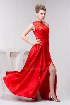 Floor-Length Pleats Long Red Bridesmaid Dresses 02010100