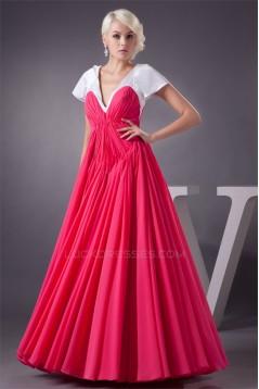 Ruffles A-Line Chiffon Long Bridesmaid Dresses 02010105