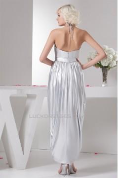 Sheath/Column Asymmetrical Sleeveless Satin Elastic Woven Satin Bridesmaid Dresses 02010108