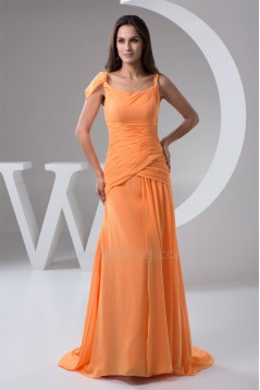 Sheath/Column Ruched Spaghetti Straps Sleeveless Long Bridesmaid Dresses 02010109