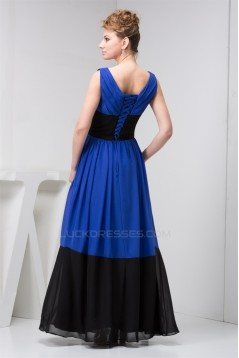 Sleeveless V-Neck Floor-Length A-Line Chiffon Long Bridesmaid Dresses 02010114