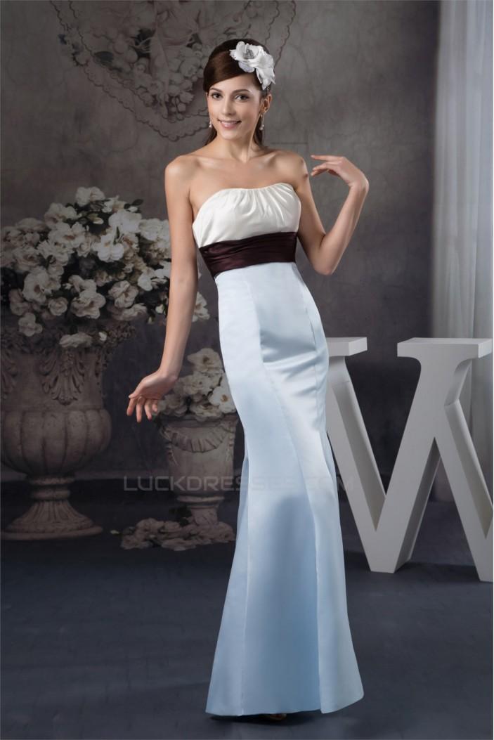 Mermaid/Trumpet Satin Long Bridesmaid Dresses 02010115