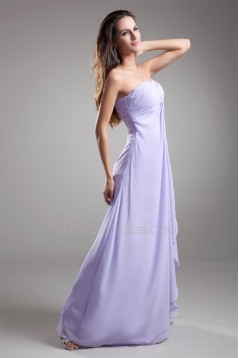 A-Line One-Shoulder Chiffon Long Bridesmaid Maternity Dresses 02010126