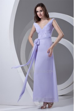 Ankle-Length Chiffon Long Bridesmaid Dresses 02010132