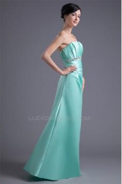 Beading Sleeveless A-Line Floor-Length Strapless Long Bridesmaid Dresses 02010134