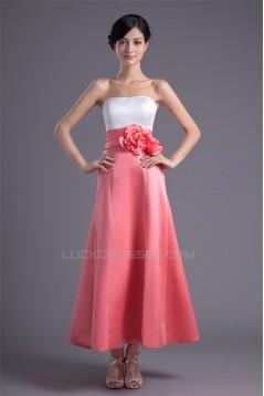 A-Line Ankle-Length Satin Soft Bridesmaid Dresses 02010136