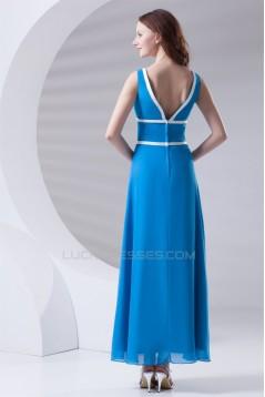 Beautiful A-Line Chiffon V-Neck Bridesmaid Dresses 02010137