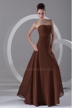 A-Line Sleeveless Long Chiffon Bridesmaid Dresses 02010140
