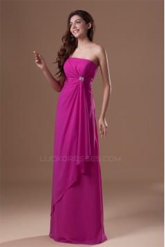 Elegant Strapless Chiffon Beading Bridesmaid/Prom/Formal Evening Dresses 02010149