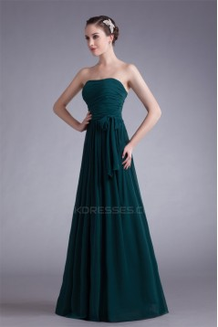 A-Line Strapless Floor-Length Long Bridesmaid Dresses 02010150