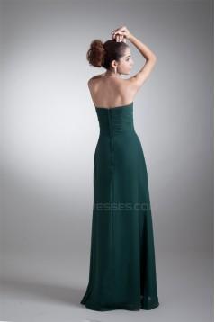 Floor-Length Sweetheart Sheath/Column Chiffon Long Bridesmaid Dresses 02010159