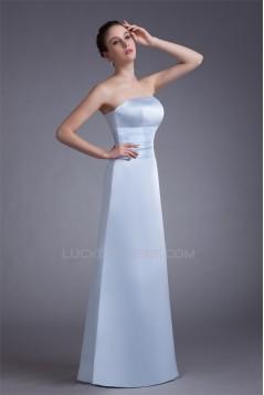 Floor-Length Strapless Pleats A-Line Sleeveless Long Bridesmaid Dresses under 100 02010160