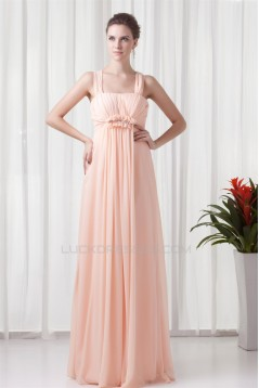 Halter Floor-Length Sleeveless Ruffled Chiffon Bridesmaid Dresses Maternity Evening Dresses 02010166