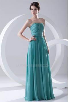 Hot Sale Soft Sweetheart A-Line Floor-Length Pleats Long Chiffon Bridesmaid Dresses 02010169