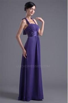 New Arrival Chiffon Sleeveless Ruched Long Bridesmaid Dresses 02010171