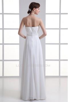 Pleats Sleeveless Sheath/Column Floor-Length Long White Bridesmaid Dresses 02010179