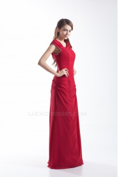 Sheath/Column Floor-Length Sleeveless Beading Long Bridesmaid Dresses 02010184