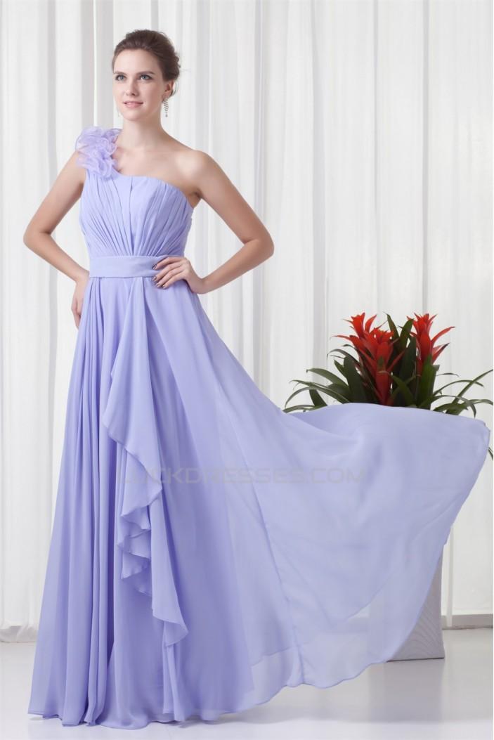 Sleeveless Sheath/Column Floor-Length One-Shoulder Long Bridesmaid Dresses 02010196