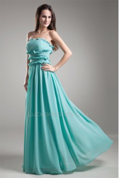 Strapless Floor-Length Chiffon Long Bridesmaid Dresses 02010206