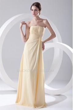 Strapless Pleats Floor-Length Sleeveless Long Bridesmaid Dresses 02010207