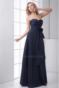Taffeta A-Line Sweetheart Floor-Length Sleeveless Long Bridesmaid Dresses 02010211