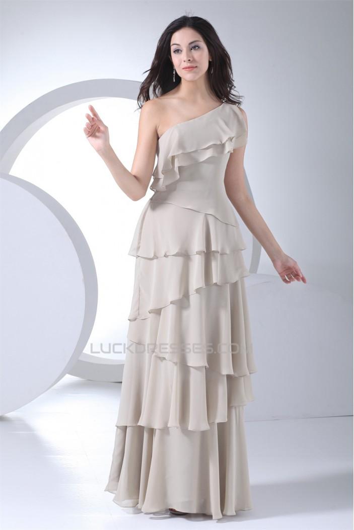 Sleeveless Floor-Length Sheath/Column One-Shoulder Long Bridesmaid Dresses 02010223
