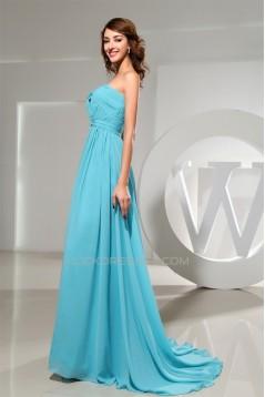 A-Line Sweetheart Criss Cross Puddle Train Long Bridesmaid Dresses 02010231