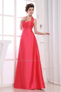 A-Line Taffeta Floor-Length Criss Cross Long Bridesmaid Dresses 02010244