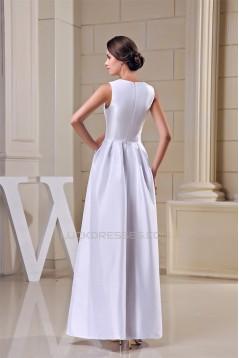 U neck Taffeta Sleeveless Ankle-Length A-Line Long Bridesmaid Dresses 02010246