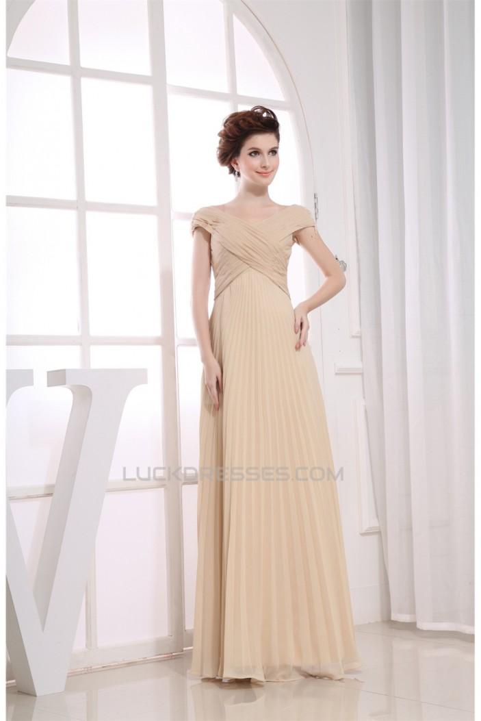 A-Line Capped V-Neck Floor-Length Criss Cross Off-the-Shoulder Long Bridesmaid Dresses 02010247