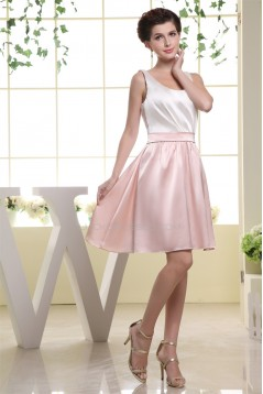 A-Line Sleeveless Scoop Ruffles Short Bridesmaid Dresses 02010248
