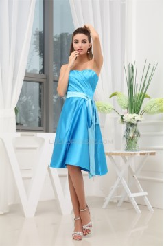 Amazing A-Line Sleeveless Knee-Length Sweetheart Short Bridesmaid Dresses 02010252