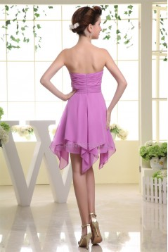 Asymmetrical Chiffon Bows Short Bridesmaid Dresses 02010256