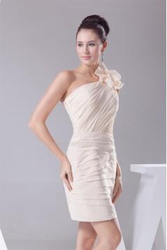 Beading Sleeveless Short/Mini One-Shoulder One-Shoulder Bridesmaid Dresses 02010261