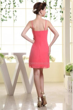 Beautiful V-Neck Chiffon Silk like Satin Sleeveless Bridesmaid Dresses 02010263