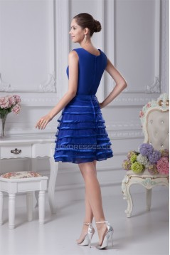 Short/Mini Knee-Length Blue Bridesmaid Dresses 02010268
