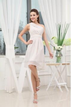 A-Line One-Shoulder Ruffles Short Bridesmaid Dresses 02010269