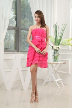 Chiffon Silk like Satin Sash Ribbons Bridesmaid Dresses 02010273