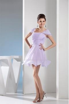 Short/Mini Pleats Short Chiffon Bridesmaid Dresses 02010275